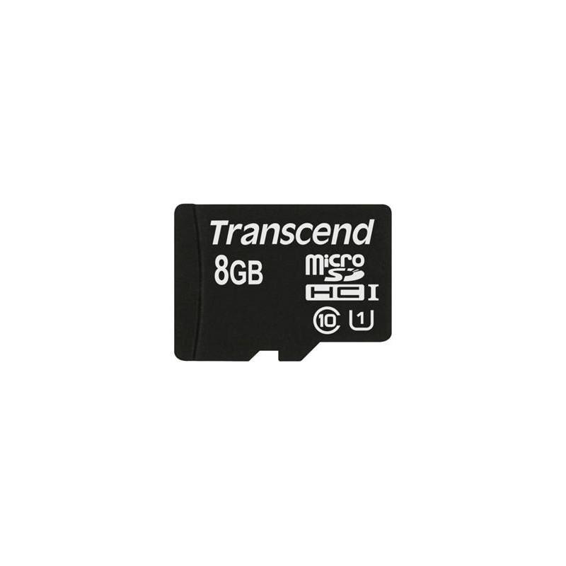 Transcend 8GB microSDHC UHS-I 400x Premium (Class 10) paměťová karta (bez adaptéru) TS8GUSDCU1
