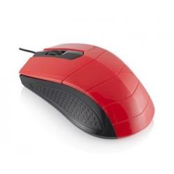 Modecom Logic LM-13 drátová optická myš, 3 tlačítka, 1000 DPI, USB, černo-červená M-LC-LM13-150
