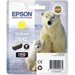 EPSON cartridge T2634 yellow (lední medvěd) XL C13T26344012