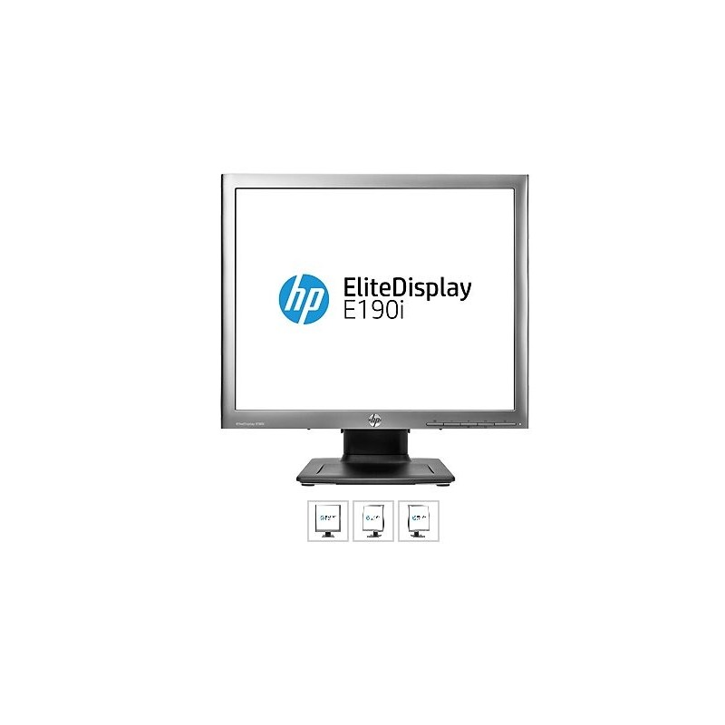 HP EliteDisplay E190i, 18,9 IPS, 1280x1024, 1000:1, 8ms, 250cd, VGA, DVI, DP, USB, PIVOT, 3y E4U30AA#ABB