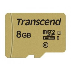 Transcend 8GB microSDHC 500S UHS-I U1 (Class 10) MLC paměťová karta...