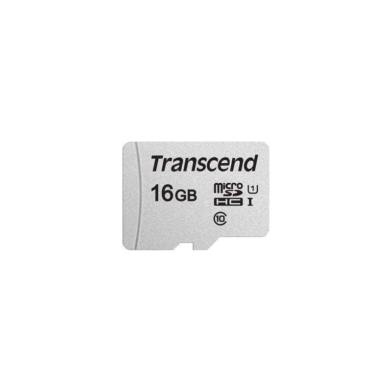 Transcend 16GB microSDHC 300S UHS-I U1 (Class 10) paměťová karta (bez adaptéru), 95MB/s R, 45MB/s W TS16GUSD300S