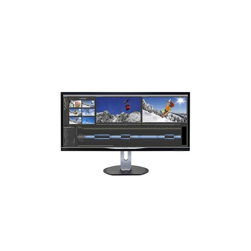 "Philips BDM3470UP/00 34"" AH-IPS LED 3440x1440 40 000 000:1 5ms 320cd HDMI DVI DP Pivot repro cierny"