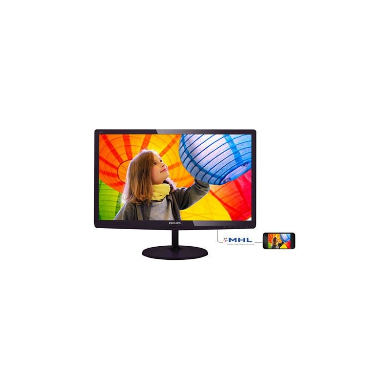 "Philips 247E6QDAD/00 23.6"" LED ADS-IPS 1920x1080 20 000 000:1 5ms 250cd HDMI DVI repro cierny"