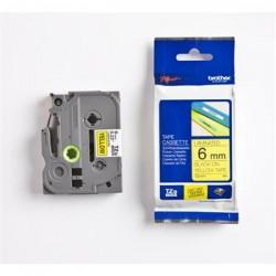 páska BROTHER TZ611 čierne písmo, žltá páska Tape (6mm) TZE611
