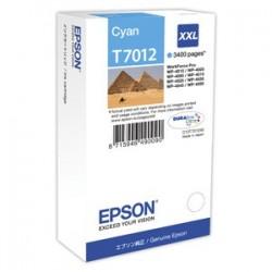 kazeta EPSON WorkForce WP4000,WP4500 cyan XXL 3.400 strán C13T701240
