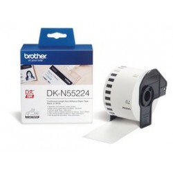 rolka BROTHER DKN55224 Non ADHESIVE Thick Paper Tape (Biela 54mm)