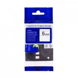 Kompatibilná páska BROTHER TZ211 čierne písmo, biela páska Tape (6mm) ECO-TZE-211