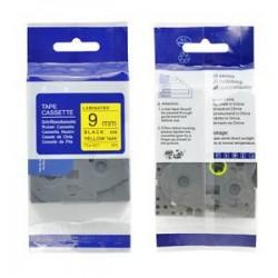 Kompatibilná páska BROTHER TZ621 čierne písmo, žltá páska Tape (9mm) ECO-TZE-621