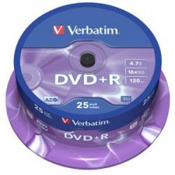 DVD+R VERBATIM 4,7GB 16X 25ks/cake 43500