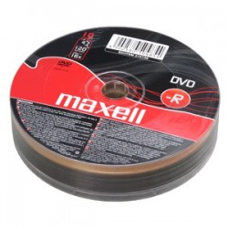 DVD-R MAXELL 4,7GB 16X 10ks/spindel 275730.30.TW