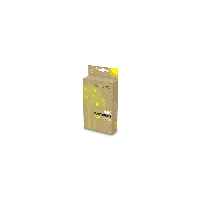 kazeta ECODATA pre BROTHER DCP-130/135 Yellow (LC-1000/970Y) 18ml ECO-LC-1000/970Y