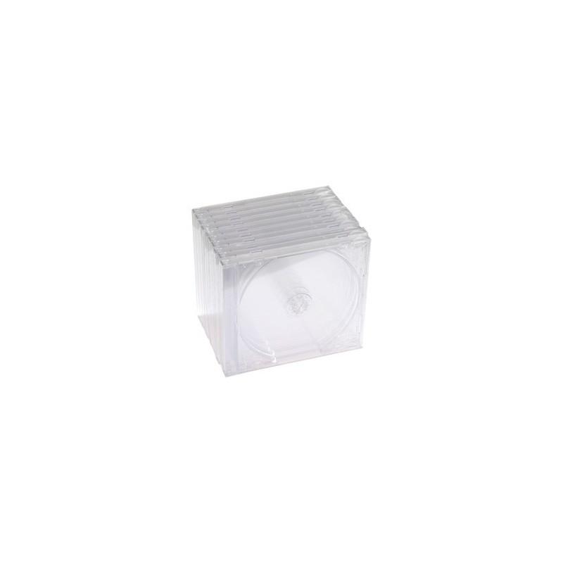 Obal na 1CD 10ks/balenie, priehľadný s priehľ.trayom, 10,4mm CD1-C(10)