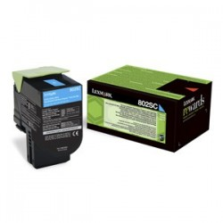 Toner Lexmark CX310/CX410/CX510 802C CYAN 1K 80C20C0