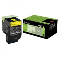 Toner Lexmark CX310/CX410/CX510 802Y YELLOW 1K 80C20Y0