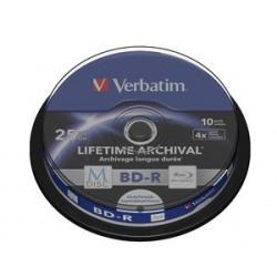 M-DISC VERBATIM BD-R 4x 25GB Printable 10ks/cake 43825