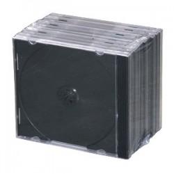 Obal na 1CD 10ks/balenie, priehľadný s čiernym trayom, 10,4mm CD1-B(10)