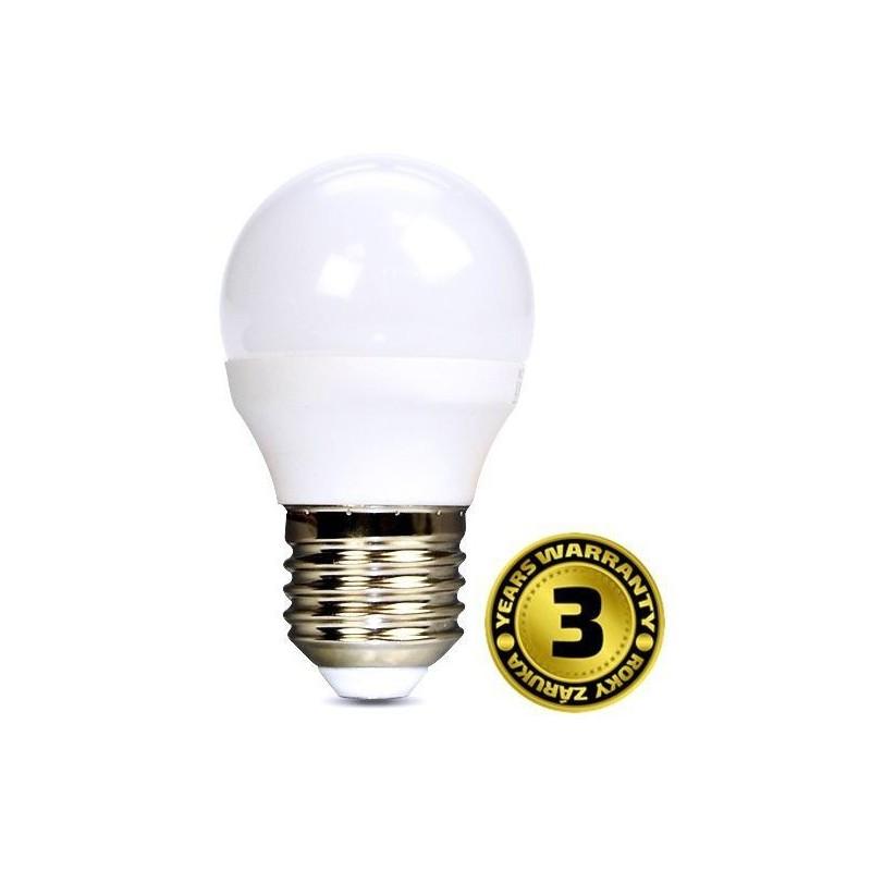 Solight LED žiarovka, miniglobe, 6W, E27, 6000K, 450lm WZ419