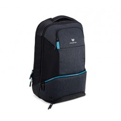 "PREDATOR HYBRID BACKPACK FOR 15.6"", BLACK WITH TEAL BLUE NP.BAG1A.291"