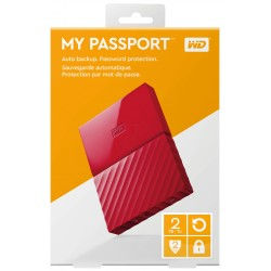 """2TB WD My Passport Black Bird, 2,5"""", USB 3.0, Externý cerveny WDBYFT0020BRD-WESN"""
