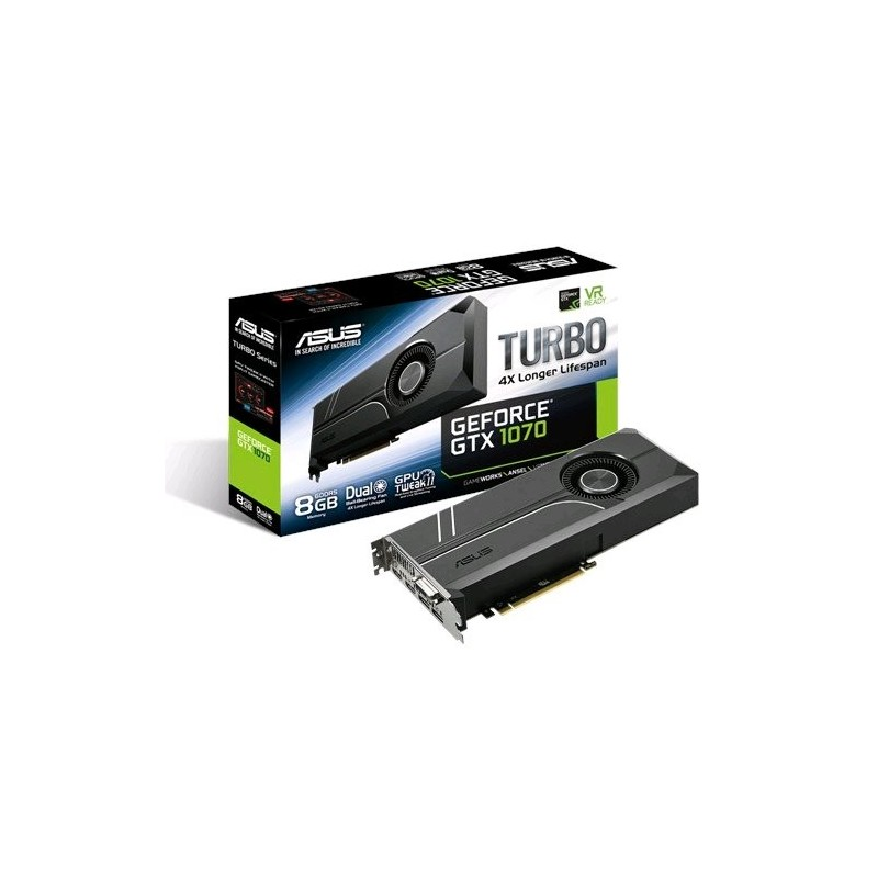 ASUS TURBO-GTX1070-8G 8GB/256-bit, GDDR5, DVI, 2xHDMI, 2xDP 90YV09P0-M0NA00