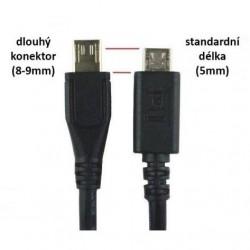 PremiumCord Kábel USB 2.0/Micro USB 8mm KU2M18FD