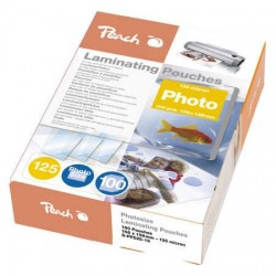 Peach Laminating Pouch Photosize 10x15 cm (80x111mm), 125mic S-PP525-19