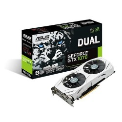 ASUS DUAL-GTX1070-8G 8GB/256-bit, GDDR5, DVI, 2xHDMI, 2xDP 90YV09T4-M0NA00