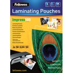 Fellowes Laminovacia fólia lesklá A4 (216x303), 100 mic, 100 ks 5351111