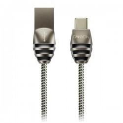 Canyon CNS-USBC5DG, 1m kábel USB-C / USB 2.0, 5V/2A, priemer 3,5mm,...