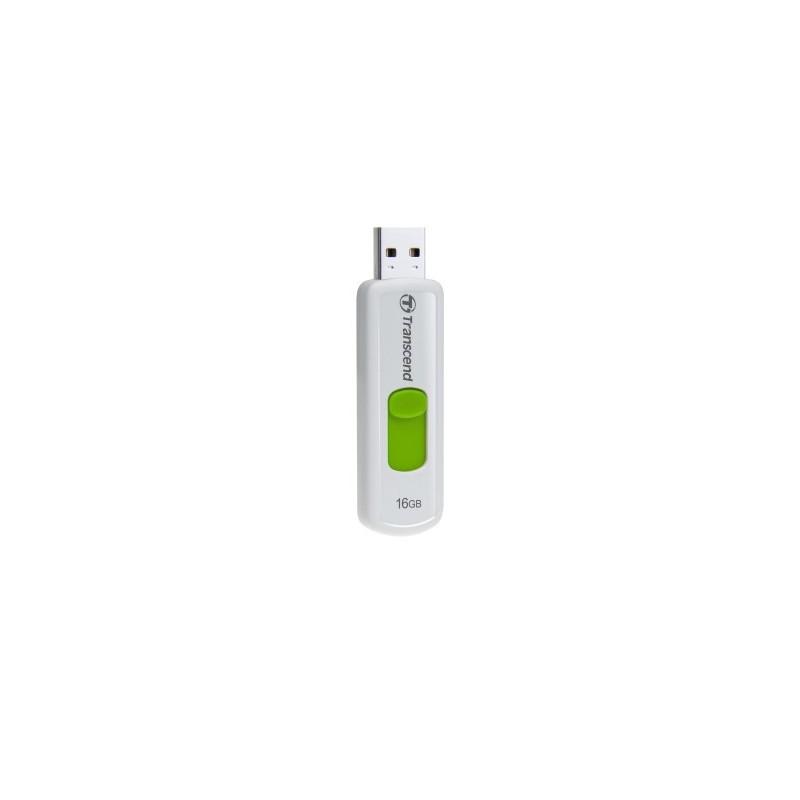 Transcend 16GB JetFlash 530, USB 2.0 flash disk, bílo/zelený TS16GJF530