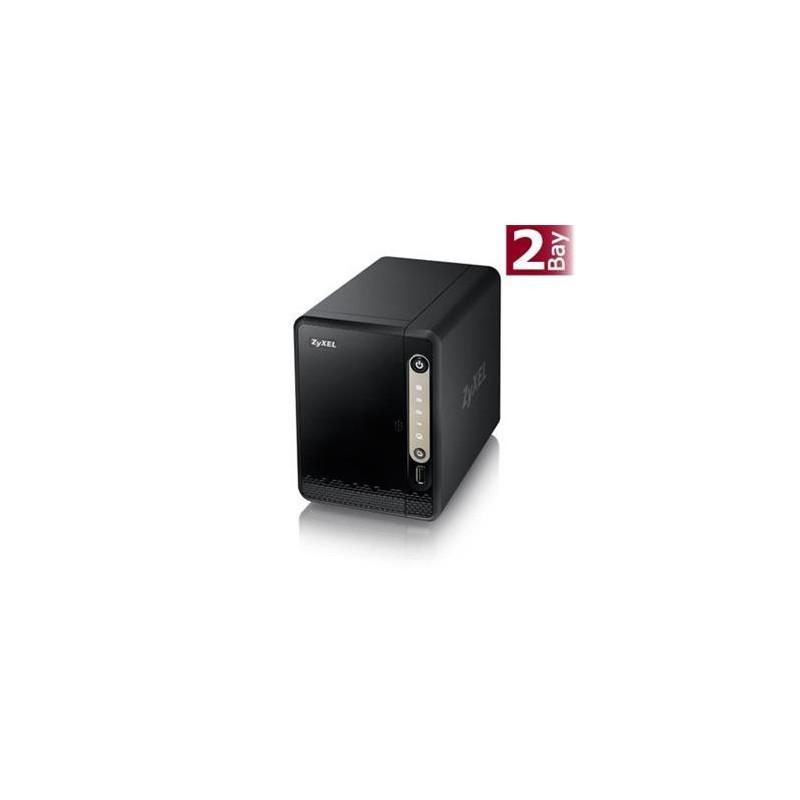 "Zyxel NAS326 2-bay Single Core Personal Cloud Storage Dual Core CPU 1.3GHz 512MB DDR3 memory 2 SATA II 2.5""/3.5"" NAS326-EU0101F"