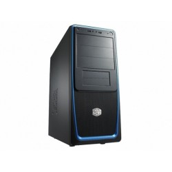 CoolerMaster PC skrinka Elite 311 ATX čierno-modrá, bez zdroja RC-311B-BKN1