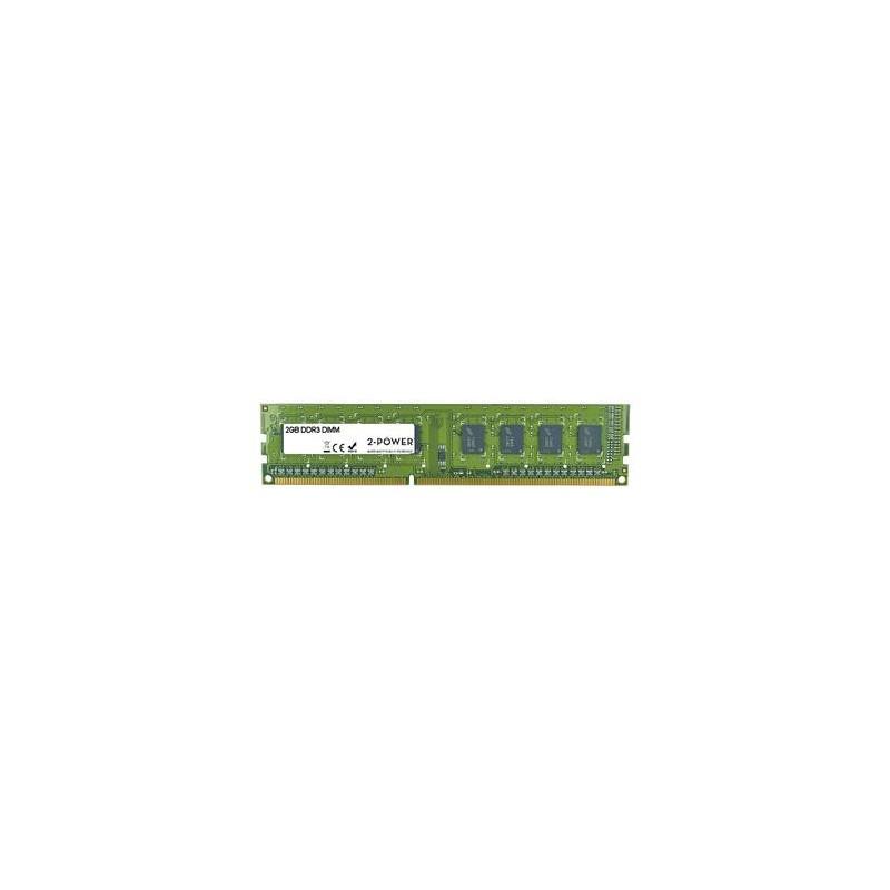 2-Power 2GB MultiSpeed 1066/1333/1600 MHz DDR3 Non-ECC DIMM 1Rx8 MEM0302A