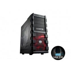 CoolerMaster skrinka miditower HAF 912 Advanced, ATX, USB3.0, bez zdroja, priehľadná bočnica, čierna RC-912A-KWN1