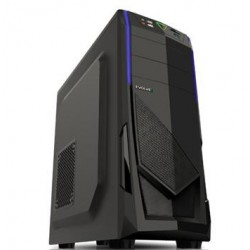 EVOLVEO R04, case full ATX midi tower, 3x 120mm, 2x USB2.0, 1x USB3.0 černo modrý design CAER04000