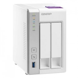 QNAP TS-231P Turbo NAS server, 1,7 GHz DC/1GB/2x HDD/2xGL/USB 3.0/Raid 0,1/iSCSI UMNP00314
