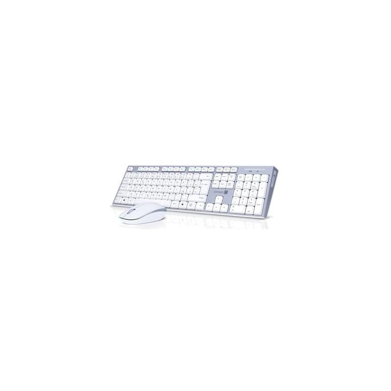 CONNECT IT Combo bezdrátová klávesnice + myš, 2,4GHz, USB, CZ + SK layout, šedo-bílá CKM-7510-CS