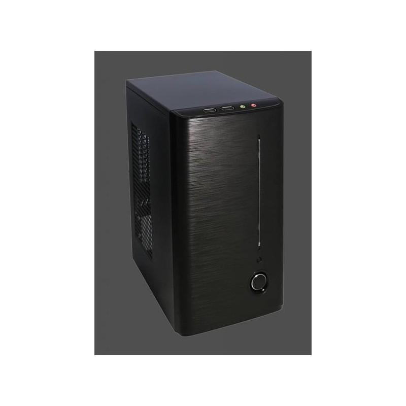 PC skrinka Eurocase Mini ITX X101, 2xUSB, audio, bez zdroja, čierna ITXX101