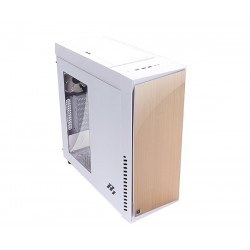 Zalman case miditower R1 WHITE, ATX, priehľadný bok, bez zdroja, USB3.0, biela