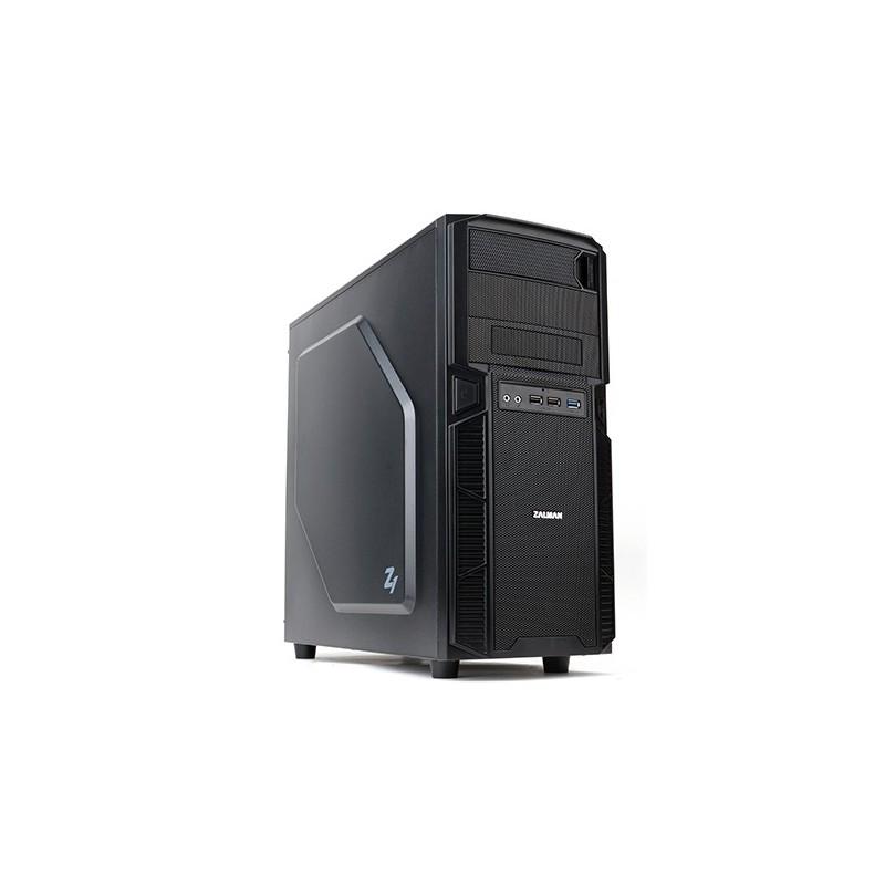Zalman MidTower PC skrinka Z1, ATX, bez zdroja, čierna