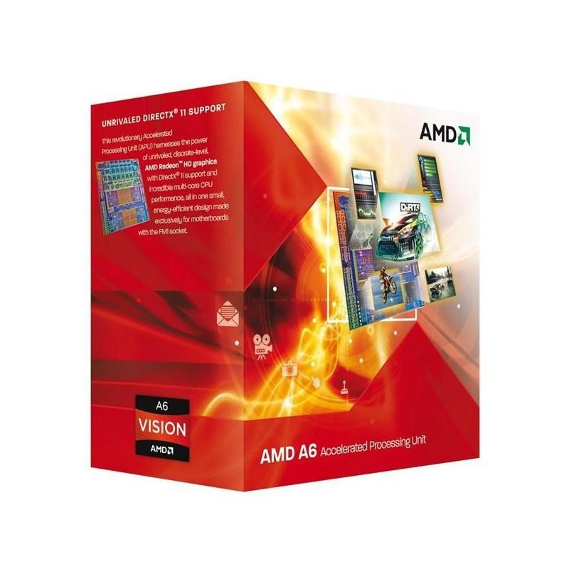 AMD, A6-6420K Processor BOX, soc. FM2, 65W, Radeon TM HD 8470D Black Edition AD642KOKHLBOX