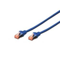 Digitus Patch Cable, S-FTP, CAT 6, AWG 27/7, LSOH, Měď, modrý 0,5m DK-1644-005/B