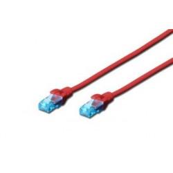 Digitus Ecoline Patch kabel, UTP, CAT 5e, AWG 26/7, červený 3m, 1ks...