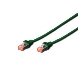 Digitus Patch Cable, S-FTP, CAT 6,AWG 27/7, LSOH, Měď, zelený 3m...
