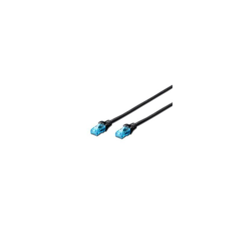 Digitus Ecoline Patch Cable, UTP, CAT 5e, AWG 26/7, černý 2m, 1ks DK-1512-020/BL