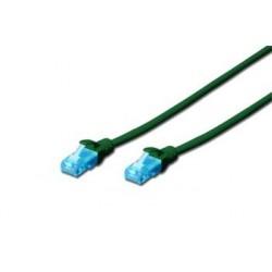 Digitus Ecoline Patch Cable, UTP, CAT 5e, AWG 26/7, zelený 2m, 1ks DK-1512-020/G