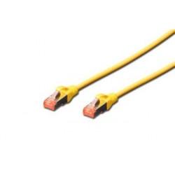 Digitus Patch Cable,S-FTP, CAT 6, AWG 27/7, LSOH, Měď, žlutý 5m...
