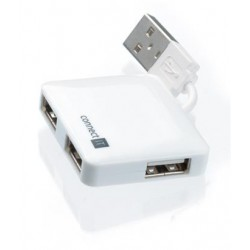 CONNECT IT USB hub se 4 porty MINI bílý CI-52
