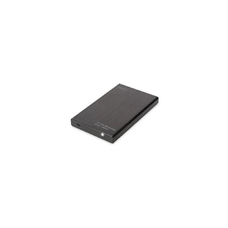 Digitus Externí Hliníkové Pouzdro 2,5 SSD / HDD, SATA III USB 2.0 DA-71104